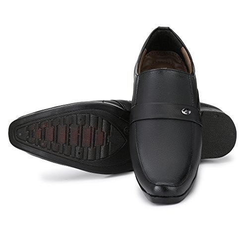 55a50714ecd Buy Fashion World Men's Faux Leather Black Formal Office Shoes (1027 ...