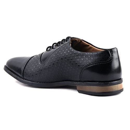 AORFEO Black Oxford Formal Shoes For Men