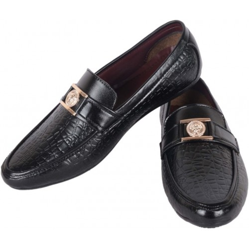 1AAROW 066 MENS STYLISH LOAFER BLACK