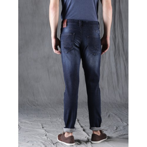 WROGN Men Blue Slim Fit Mid-Rise Mildly Distressed Stretchable Jeans
