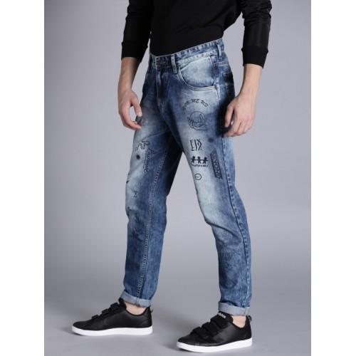 Kook N Keech Men Blue Slim Fit Mid-Rise Clean Look Jeans
