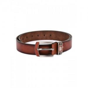 BuckleUp Men Tan Solid Belt