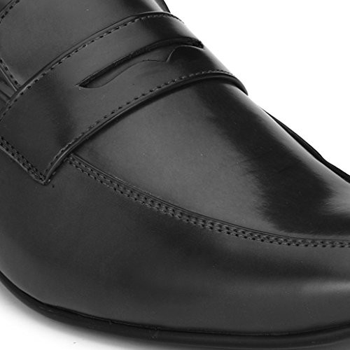 Levanse New Black/Brown Slip on Synthetic Leather Formal Shoes for Men/Boys for office and college