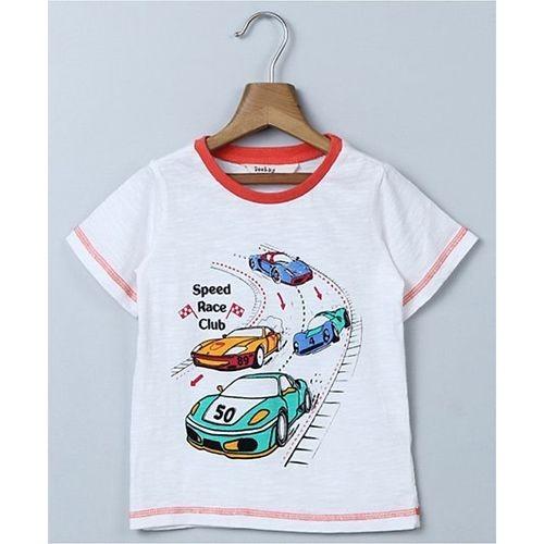 Beebay Car Print T-Shirt - White