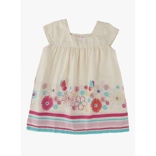 Kids on Board Off White Casual Dress