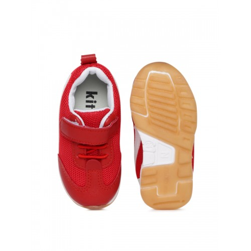 Kittens Boys Red Mesh Sneakers