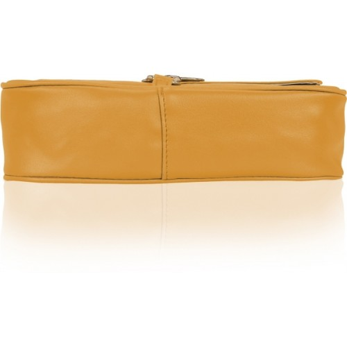 Kleio Women Casual Yellow PU Sling Bag