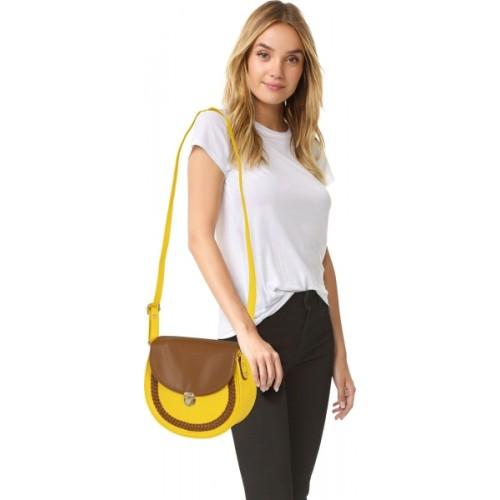 Kleio Women Casual Yellow Leatherette Sling Bag