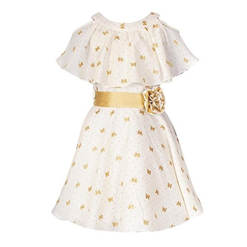 e37193fbc Buy Naughty Ninos Girls Golden Butterfly Printed Cold Shoulder Dress ...