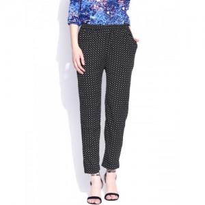 American Swan Black Printed Trousers