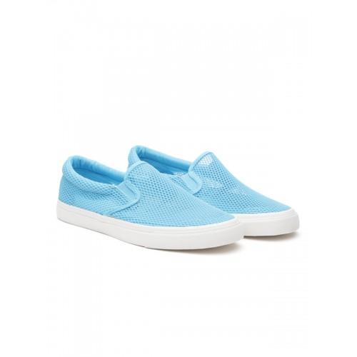 United Colors of Benetton Men Blue Slip-On Sneakers