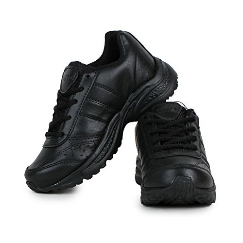 Touchwood Black School Shoes for Boys (with Laces)