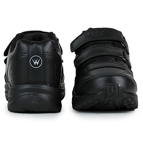 Trase TWD Kids Black School Shoes for Boys and Girls (3-12 Years) (EVA Lightweight School Shoe)