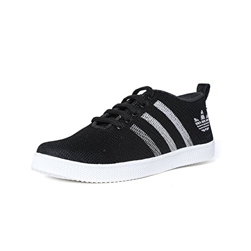 YB BAZAAR Casual Running Black Net Sneakers Shoes for Men/Canvas/Black Net & BlueNet/Lace-up/All Sizes
