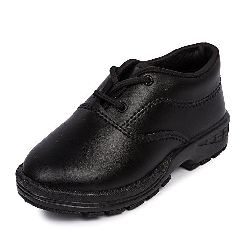 Feet Essentials Boy's Black Lace Up School Shoe