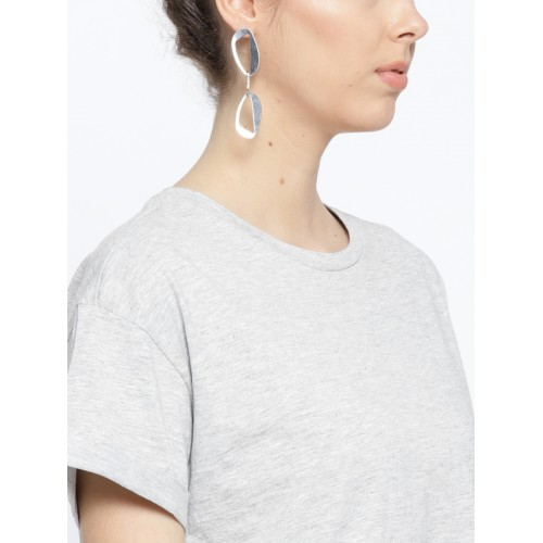 OVS Women Grey Melange Solid T-shirt Dress