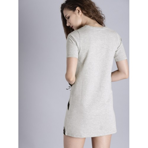 Kook N Keech Disney Grey Cotton Printed T-shirt Dress