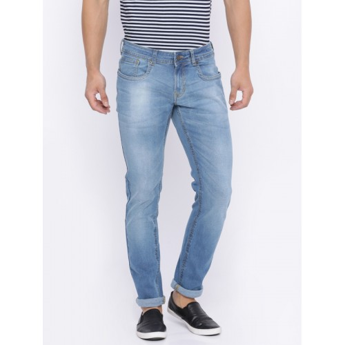 93775c2c ... Peter England Casuals Men Blue Skinny Fit Low-Rise Clean Look  Stretchable Jeans ...
