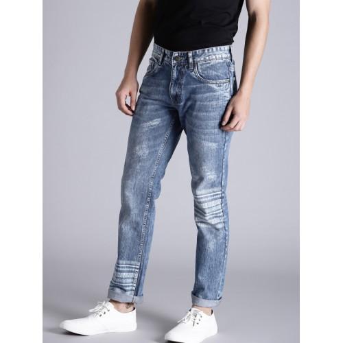 Kook N Keech Men Blue Regular Fit Mid-Rise Mildly Distressed Jeans