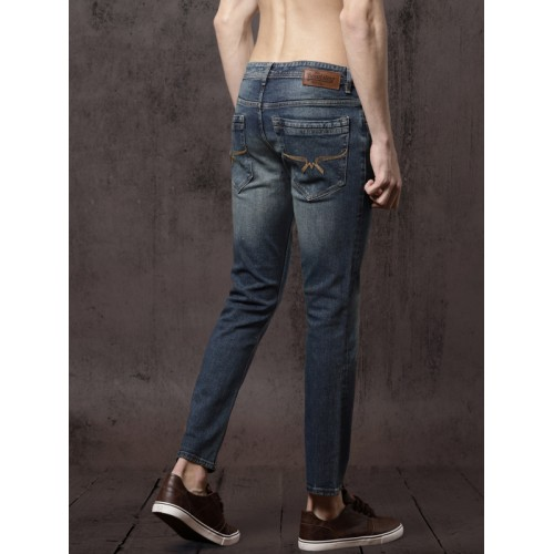 Roadster GreenTurn Men Blue Skinny Mid-Rise Save Water Stretchable Jeans
