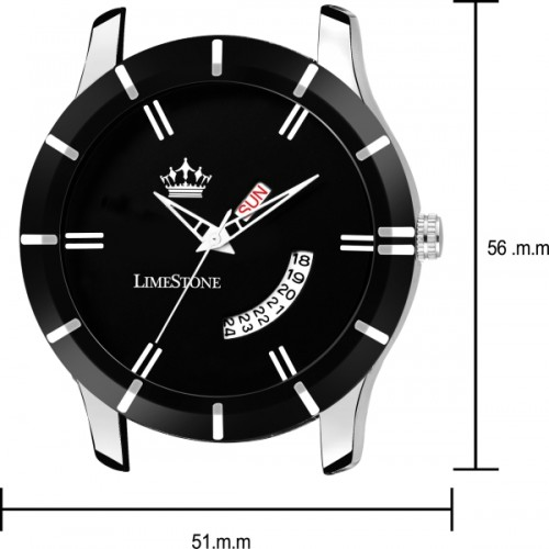 LimeStone Black Wolf Day and Date functioning Analog Watch for Boys/Men - (LS2739)