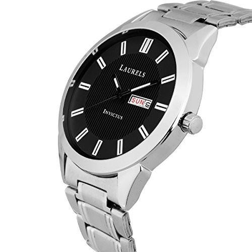 Laurels Invictus Day Date Black Dial Men's Wrist Watch- LMW-INC-III-020707