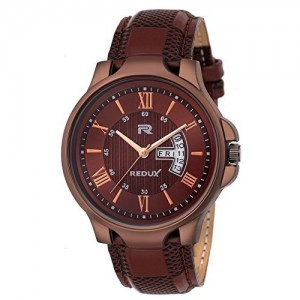 Redux Analogue Brown Dial Leather Strap Analog Watch