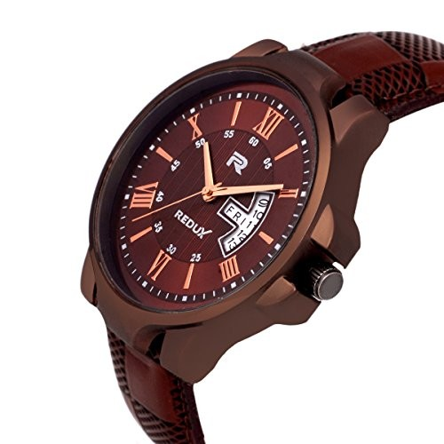 Redux Analogue Brown Dial Leather Strap Analog Watch RWS0200S