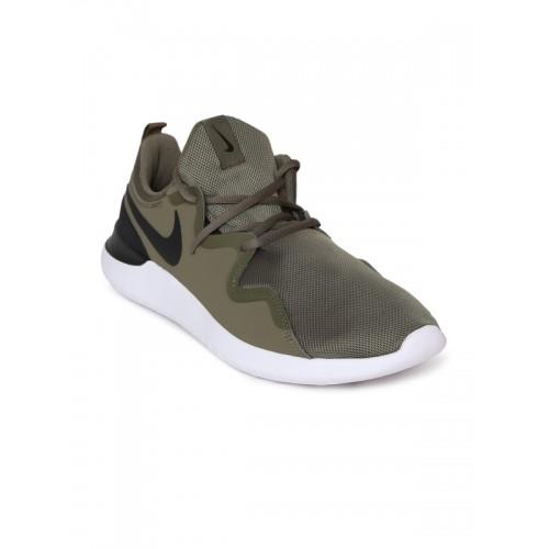 Buy Nike Men Olive Green Tessen Running