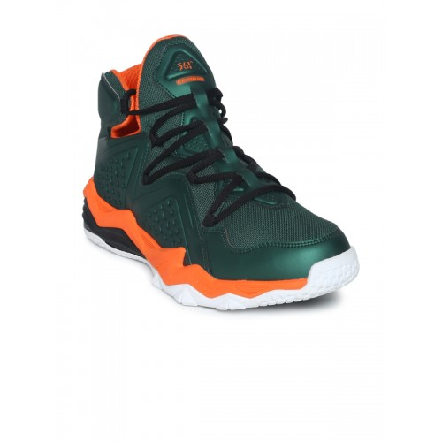 1261ecb63fa Buy 361 Degree Men Green Synthetic Mid-Top Basketball Shoes online ...