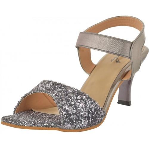 Jade Women Grey PU Heels