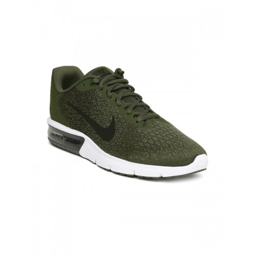 Nike Men Olive Green AIR MAX SEQUENT 2