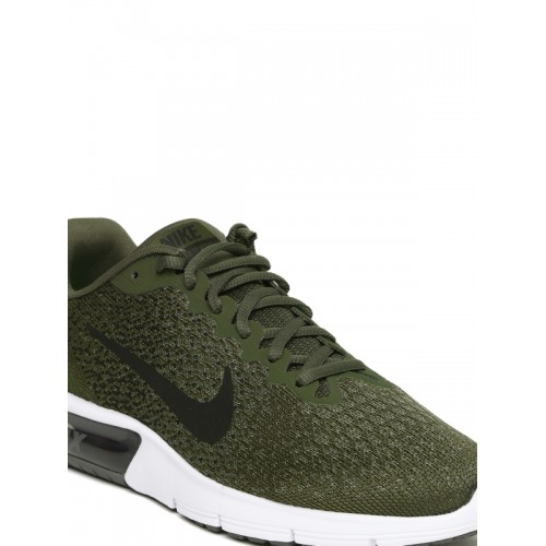 22f399b358 Buy Nike Men Olive Green AIR MAX SEQUENT 2 Running Shoes online ...