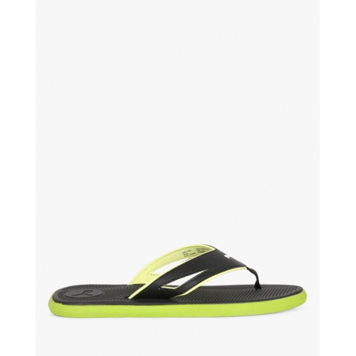 Puma Men Black Textured Stark IDP Thong Flip-Flops