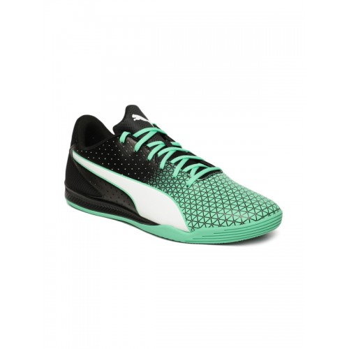 Buy Puma Unisex Black   Green Sharp Badminton Shoes online  ab75bc230
