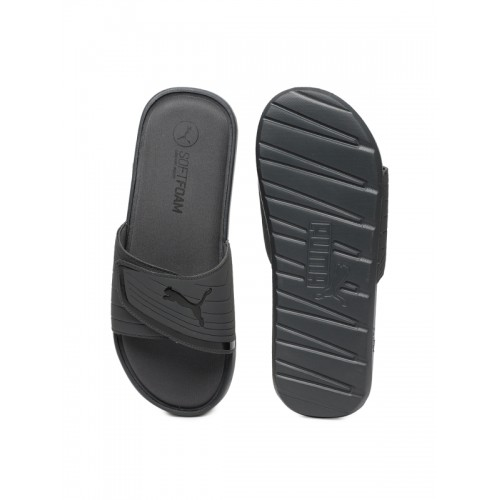 Puma Men Black Printed Sliders