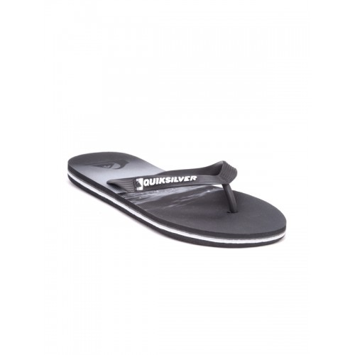 ec83d9779602c1 Buy Quiksilver Men Black   Grey Printed Flip-Flops online