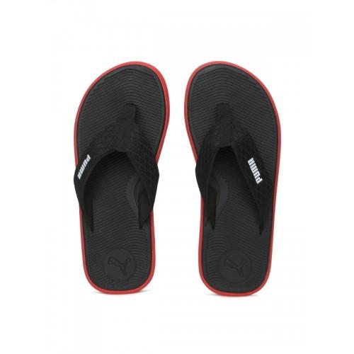 Puma Men Black Printed Thong Genova Flip-Flops