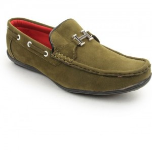 Bacca Bucci Green Loafers For Men
