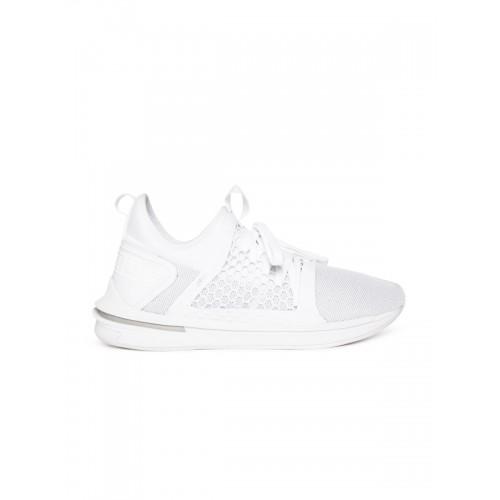 ... Puma Men White Mesh IGNITE Limitless SR NETFIT Mid-Top Running Shoes ... a3f6dd868