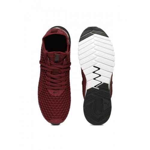factory price 0d4b1 5ef1b Buy Puma Maroon IGNITE Dual NETFIT Running Shoes online ...