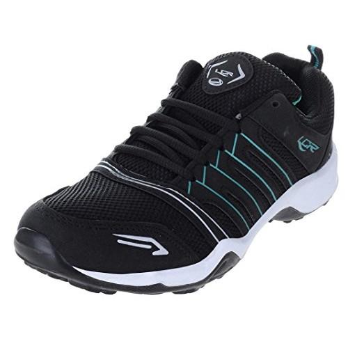 Lancer Black Mesh Lace Up Running Shoes