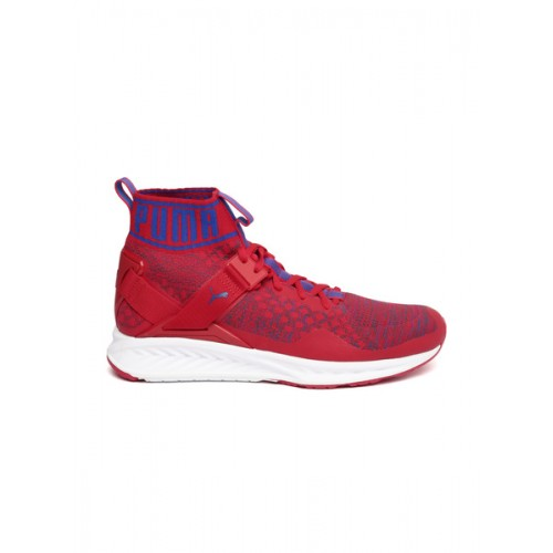 3803fbc92bed Buy Puma Red Mesh Ignite evoKNIT Mid-Top Running Shoes online ...