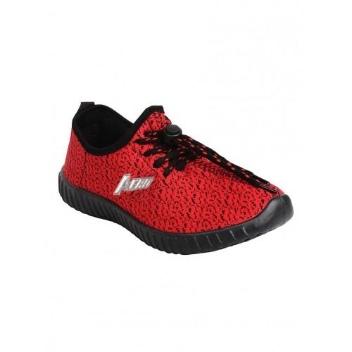 Aero red Fabric sport shoe
