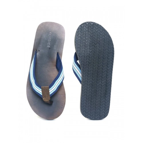 Flipside Men Blue Solid Thong Flip-Flops