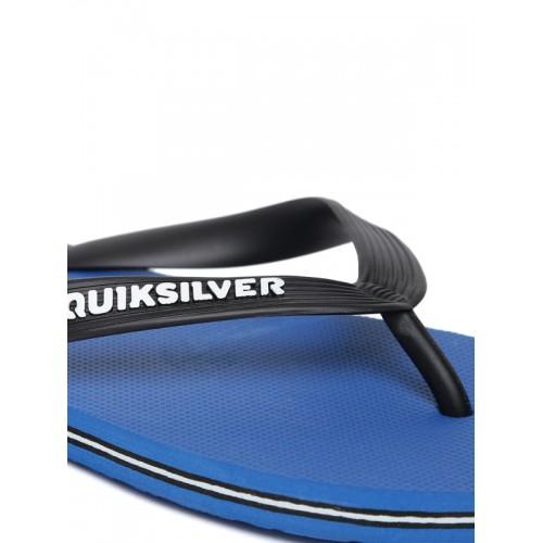 Quiksilver Men Black & Blue Flip-Flops