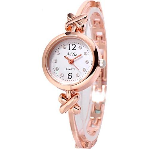 0357e17f2 Buy Addic Gift of Love Charming Rose Gold Women s   Girls Watch ...