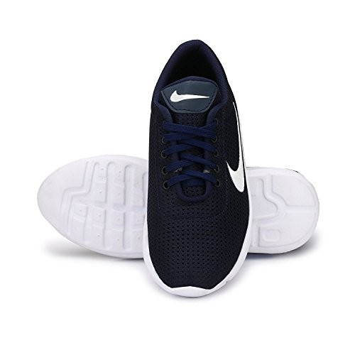 Amico Blue Mesh Lace Up Sports Shoes