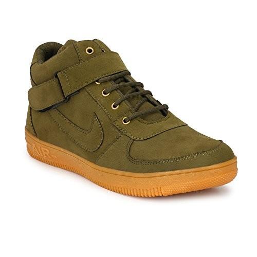 Biggfoot Men Casual Olive Sneaker Shoe