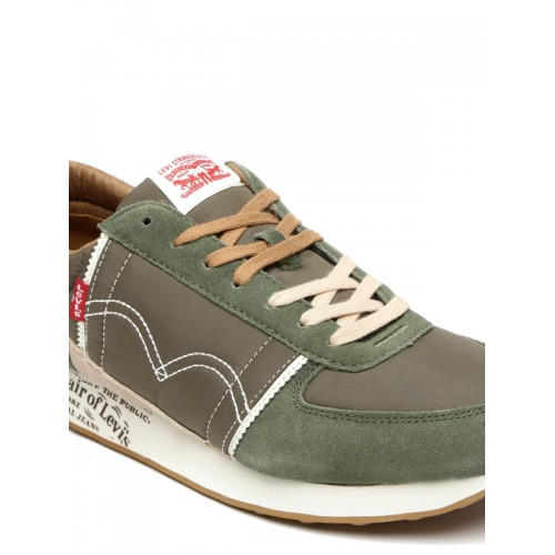 Levis Men Olive Green GILMORE Sneakers